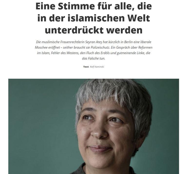 Interview mit Seyran Ates im MigrosMagazin