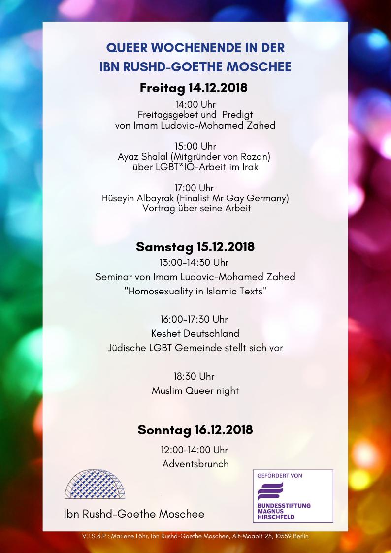 Queer Wochenende in der Ibn Rushd-Goethe Moschee