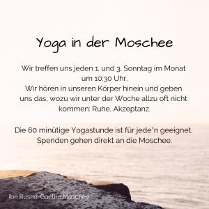 Yoga in der Moschee @ Ibn Rushd-Goethe Moschee